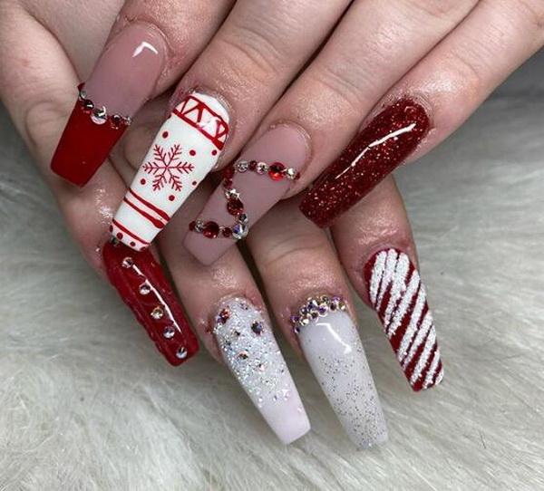 50+ Best Red Nail Art Designs. Red mani is a power statement. Red color on nails complete the outfit in a perfect way, almost always.The classic color is elegant and stylish.