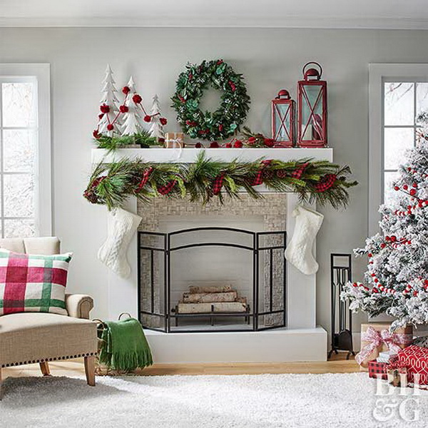 15+ DIY Christmas Mantel Decorating Ideas - For Creative Juice
