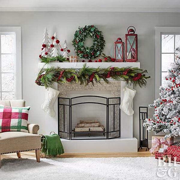 Stunning Christmas Mantel.