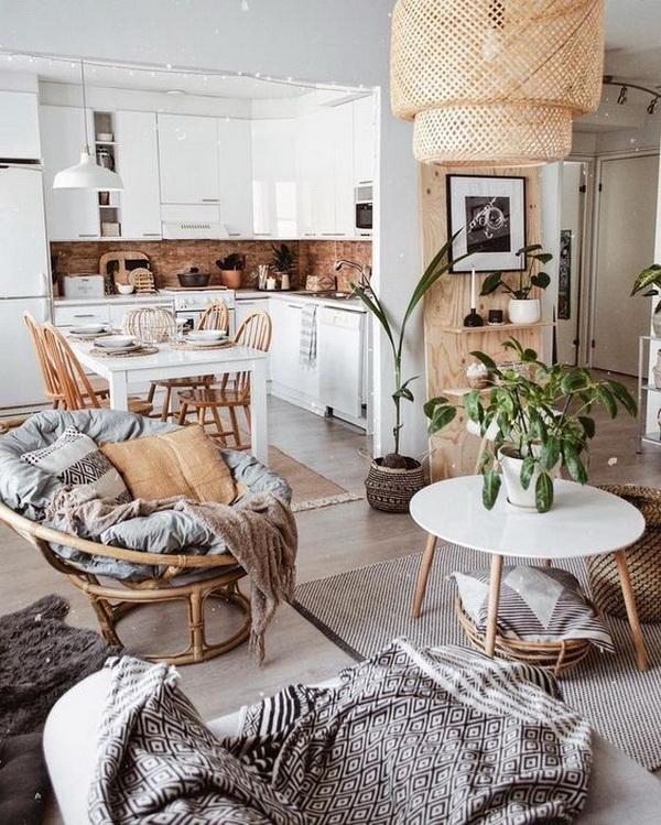 Modern bohemian style kitchen.