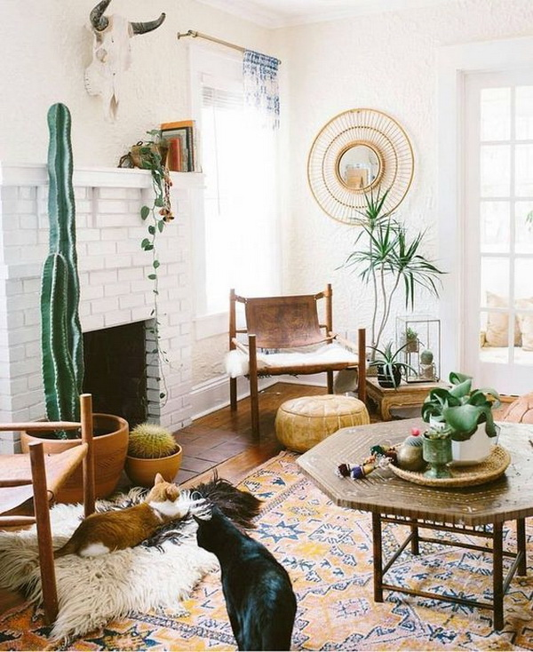 Boho inspired living room.