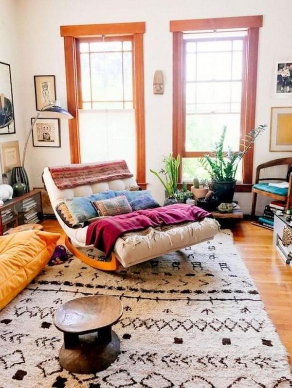 Boho style living room.