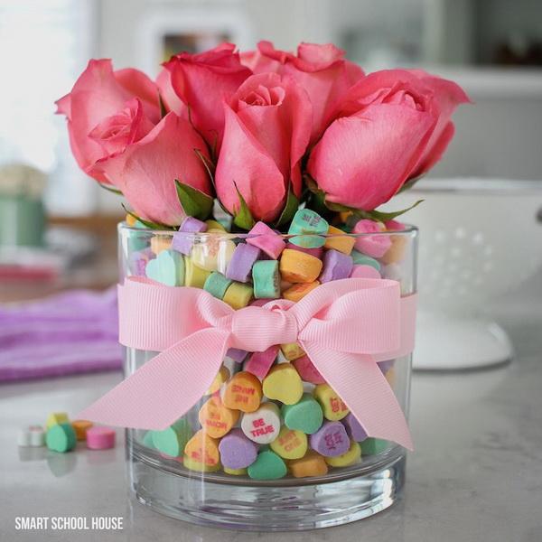 Candy Heart Valentine Bouquet.