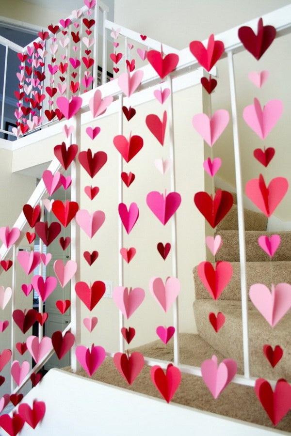 3D Heart Paper Garlands.