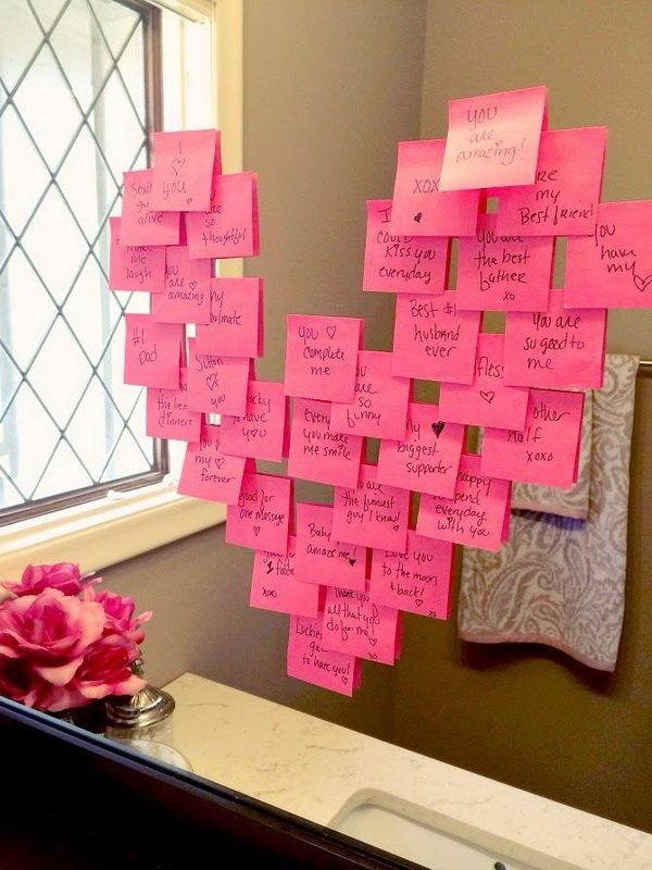 Bathroom Mirror Love Notes.
