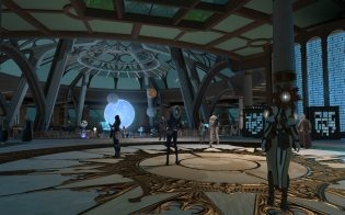 Divine Observatory, a place where you can learn where are you needed (and qo for quests).