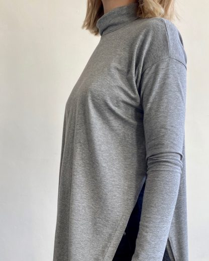 bamboo and organic cotton turtleneck top