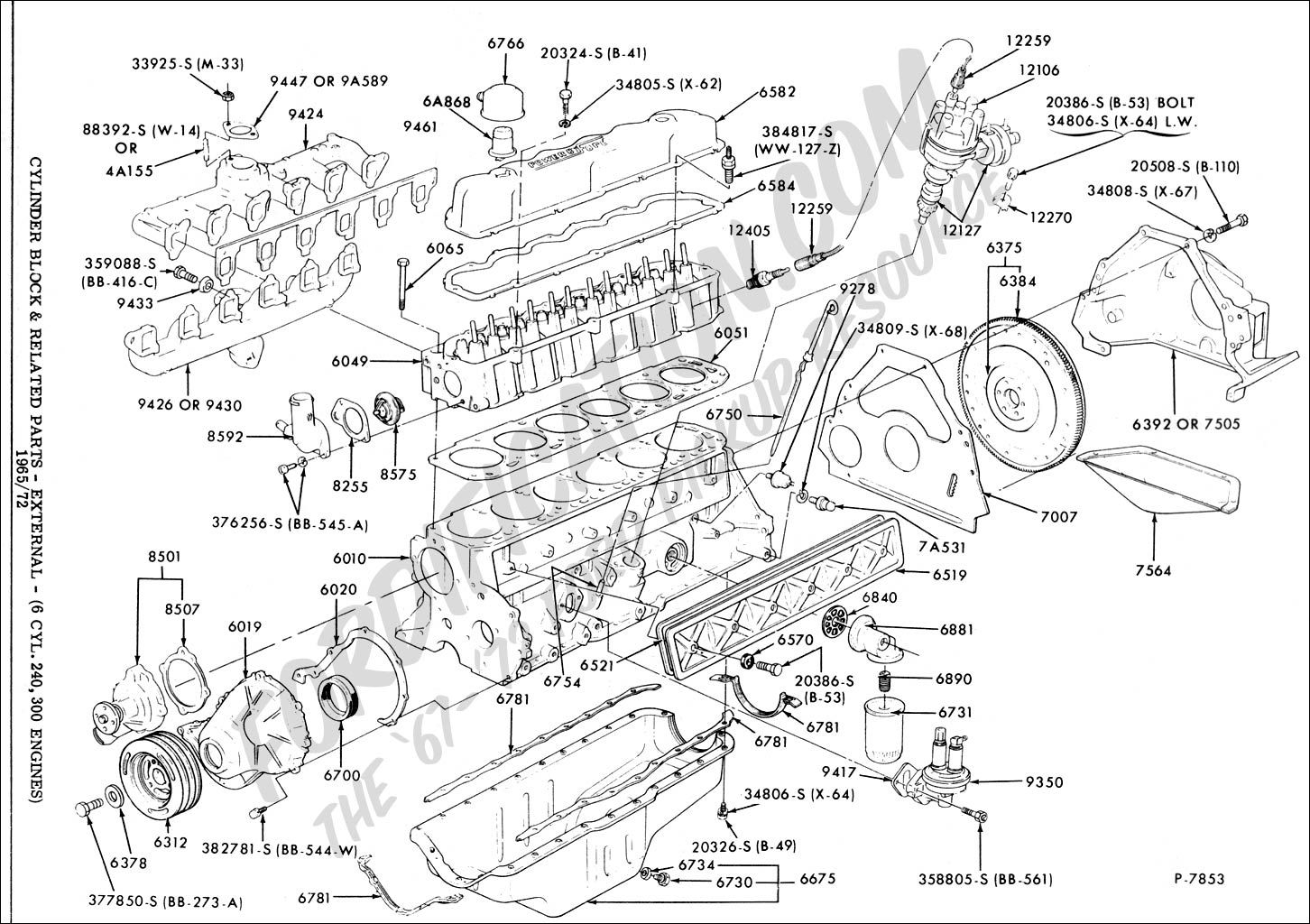 Ford 300 Inline 6 Firing Order