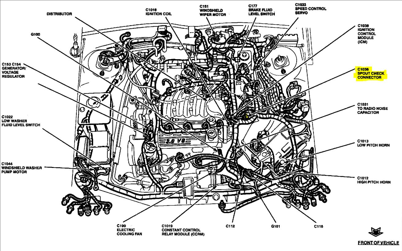 Ford Taurus Firing Order Diagram