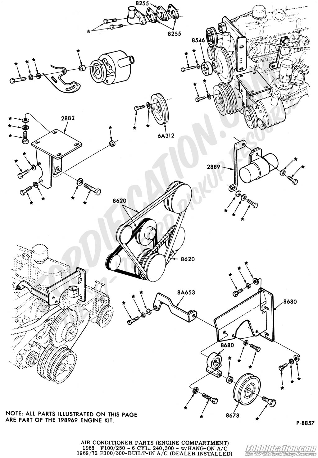 Ac Bracket For A F100 300 Engine Underdash Unit