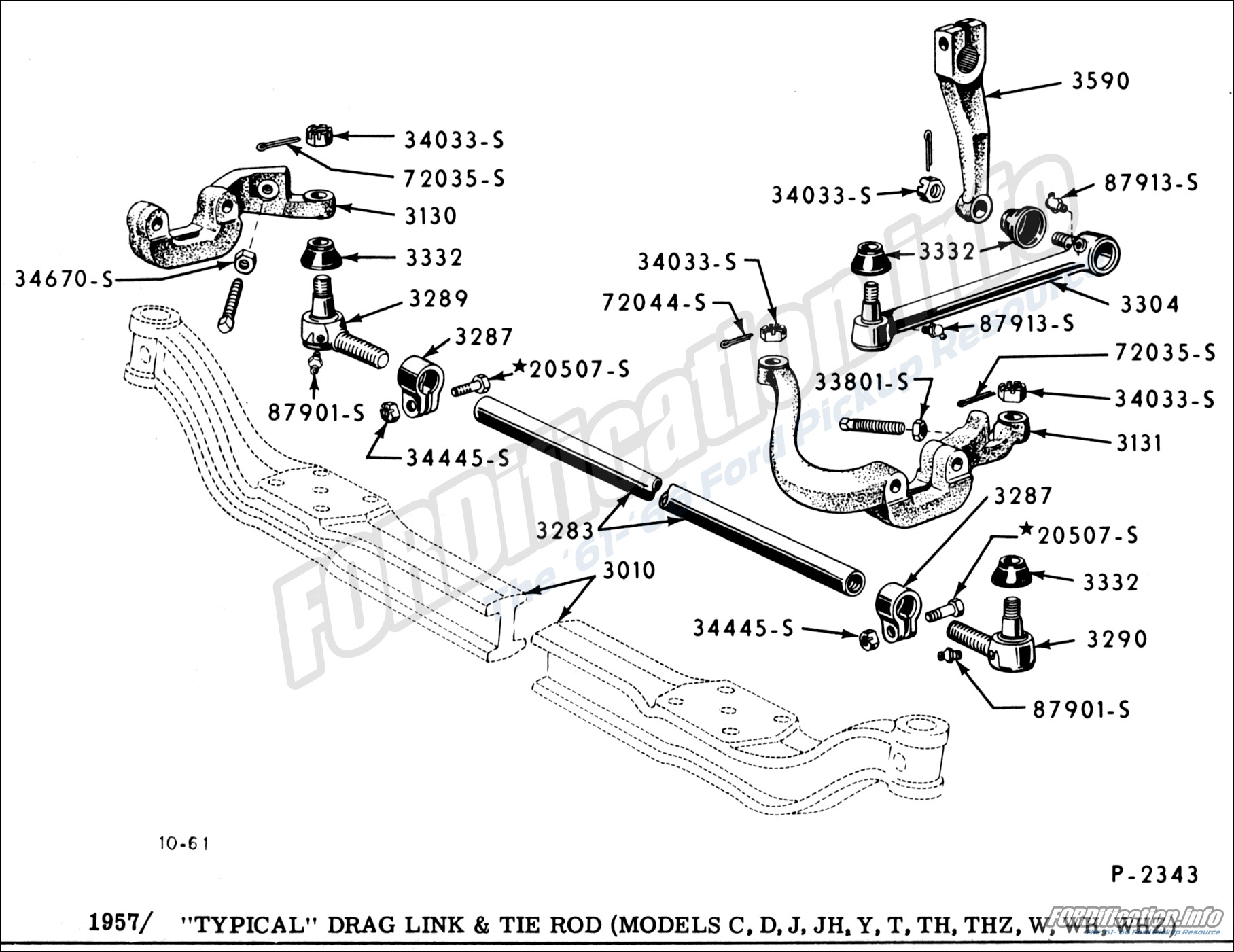 Ford Drag Link Diagram