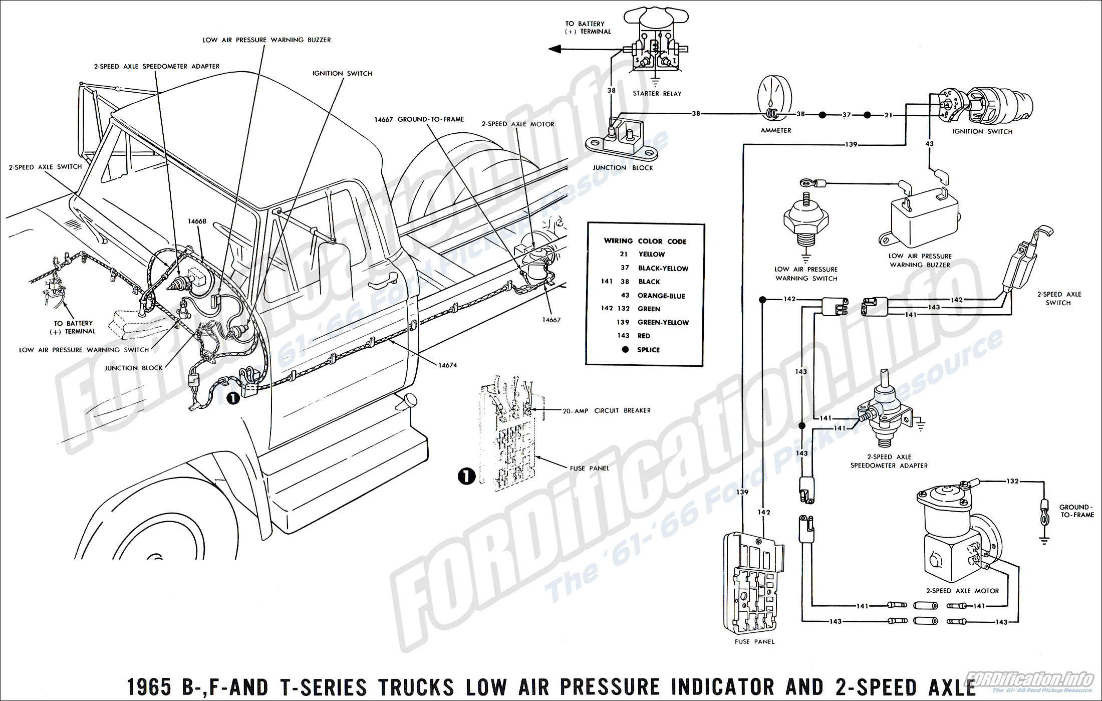 65 Ford Truck Wiring Diagram