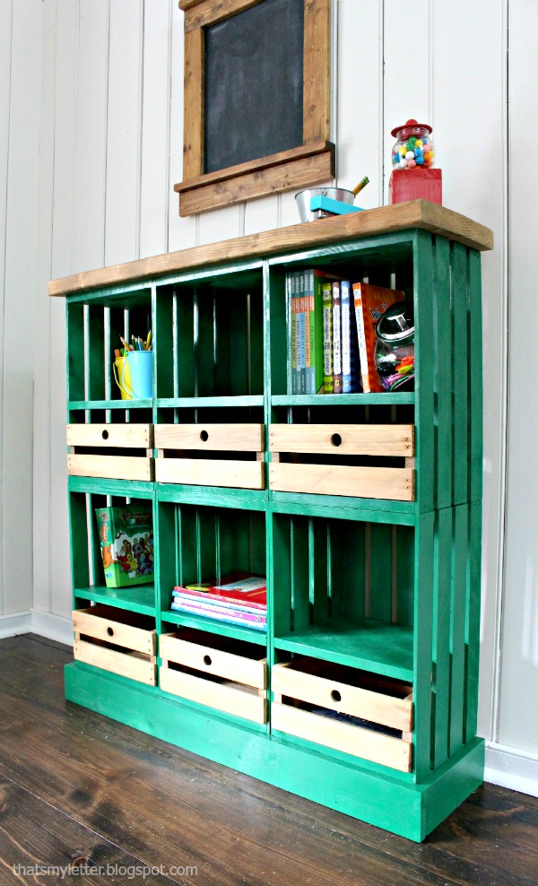 20 Creative DIY Wood Crate Storage Ideas