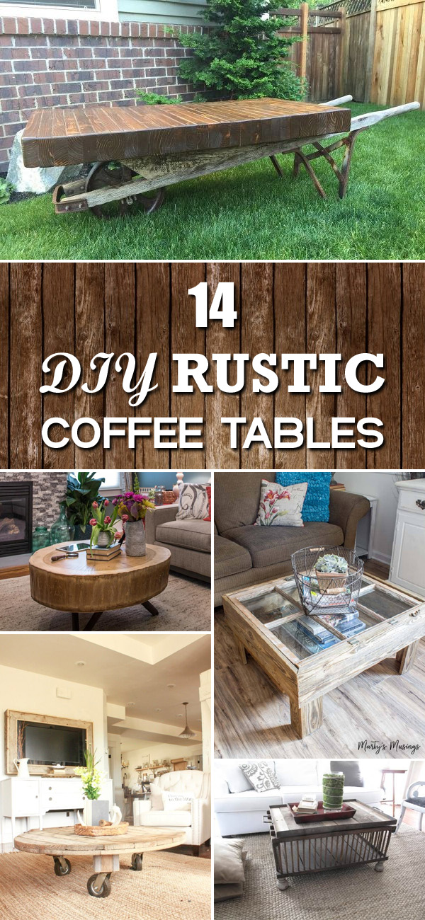 14 easy diy rustic coffee tables you can build on a budget