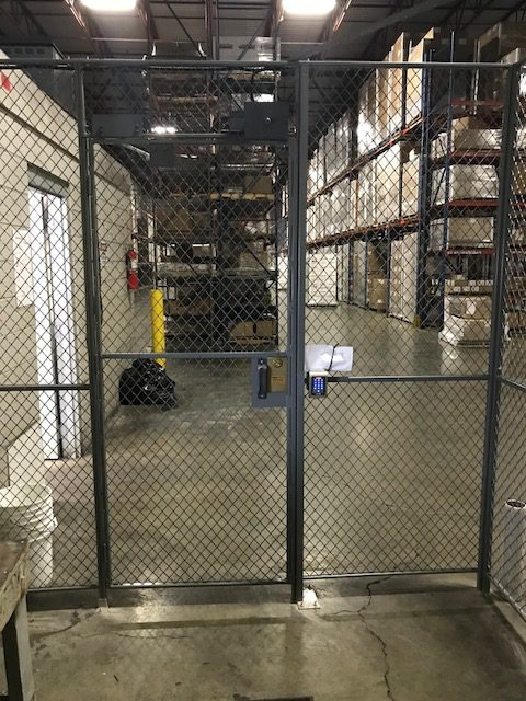 FordLogan Woven Wire Mesh Cages in Warehouses