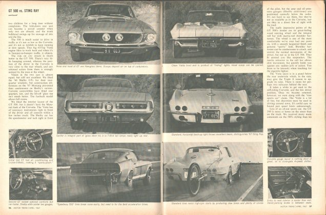 Road Test SHELBY GT-500 & 427 STING RAY s26-27 fordmustangmagazine.com