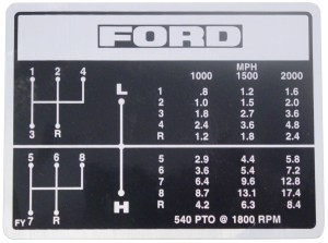 DEC451  Ford Shift Pattern Decal  8 Speed Transmission