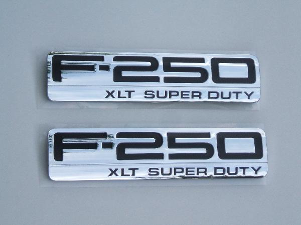 F250 XLT Fender Emblem Set 2005 2006 2007 - FordPartsOne