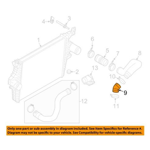 6C3Z 6C640 A Connection Air Inlet 2003 2010 F250 F350 6.0L - FordPartsOne