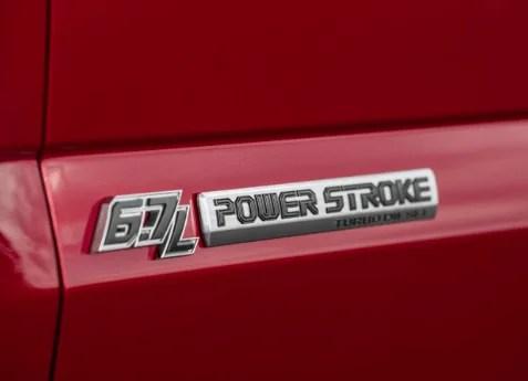 F2017 FORD F250 SUPER DUTY POWER STROKE DOOR EMBLEM SET Image 2