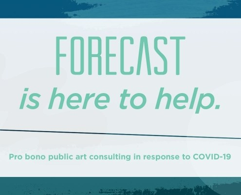 graphic announcing Forecast is here to help with pro bono consultations