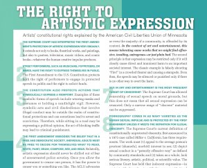 top of Forecast Artist Rights ACLU Poster