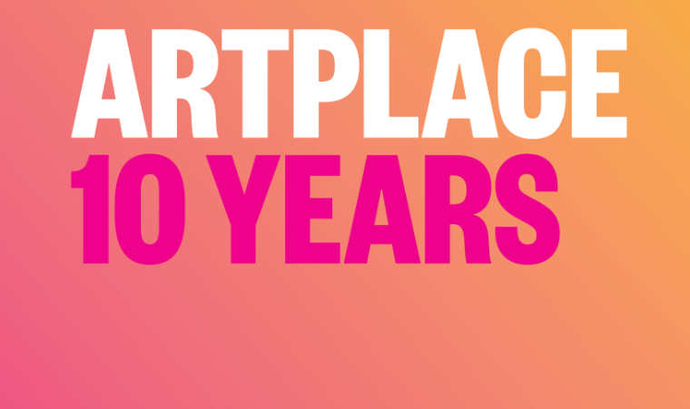 a colorful cover reads ARTPLACE 10 YEARS