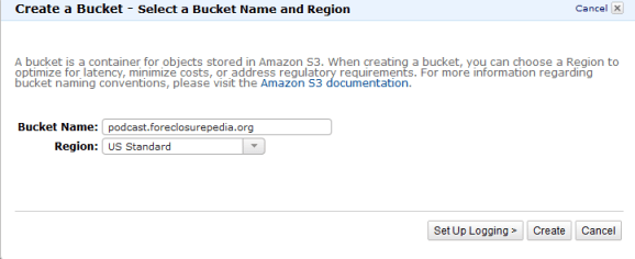 Create Bucket Feature in Amazon S3