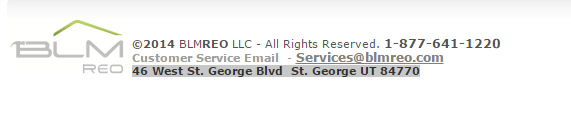 BLMREO.com lists this address