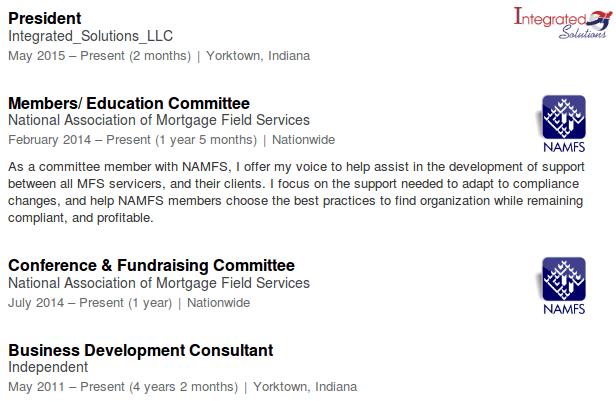 Joe Hummel's LinkedIn Information