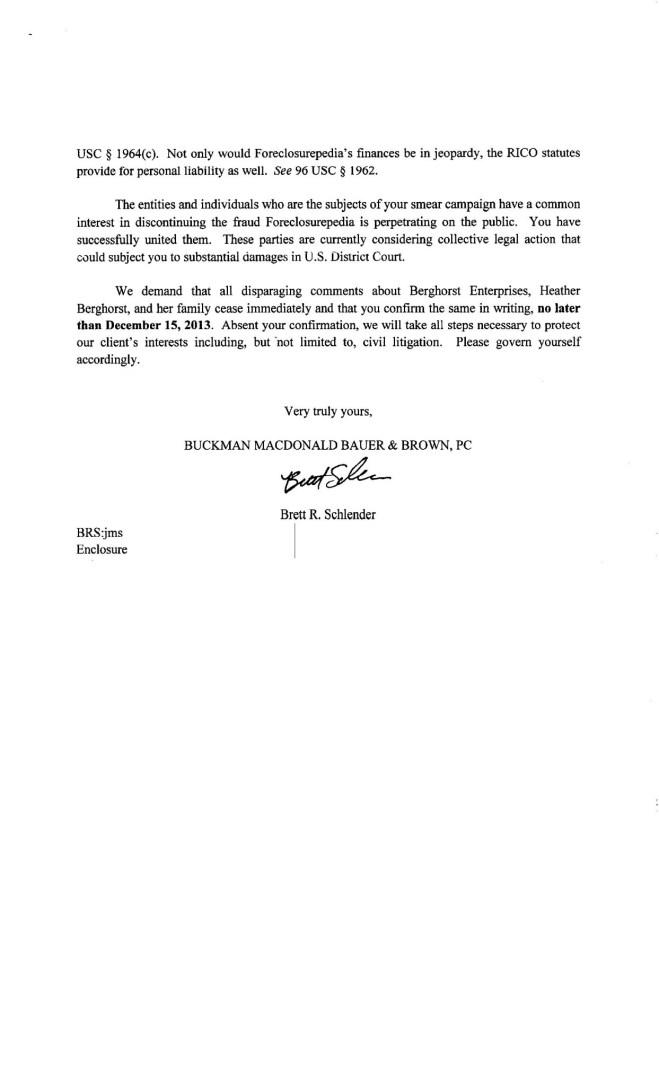 Letter From Brett R Schlender Page 02 of 02