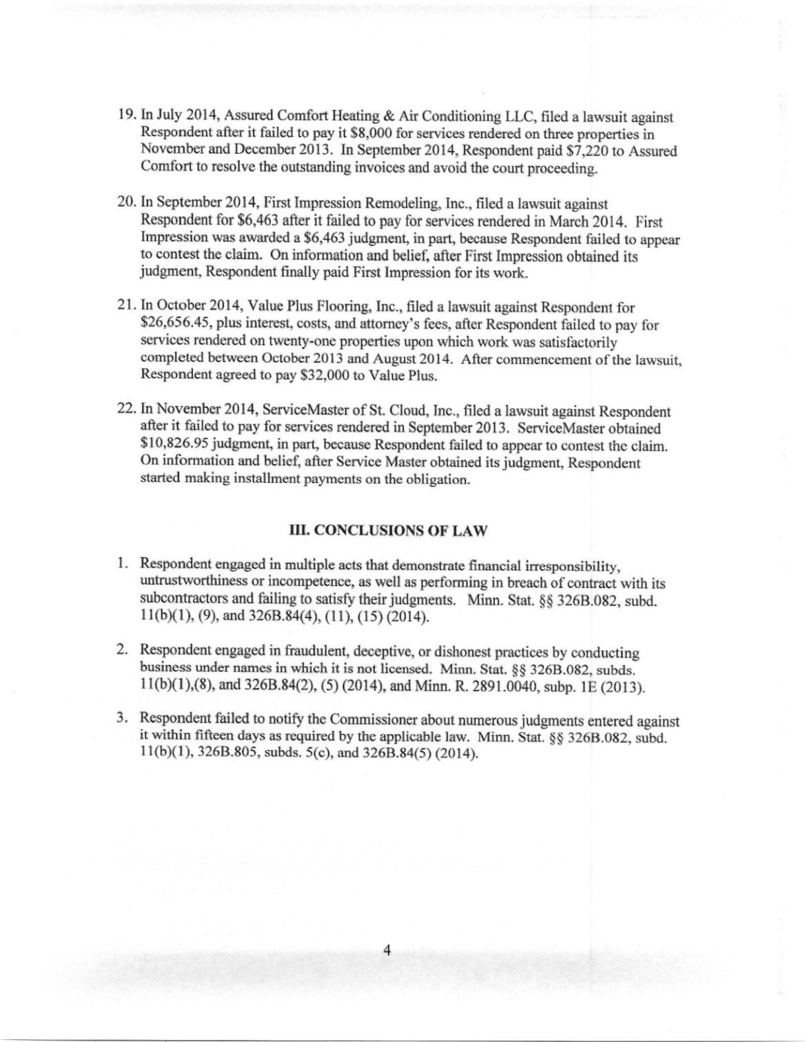 HOMESTAR MN LICENSE REVOCATION ORDER (5)