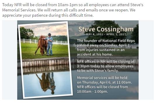 Cossingham Death