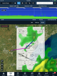 During pre-flight planning, brief your approach overlaid on the Maps view to better visualize the entry.