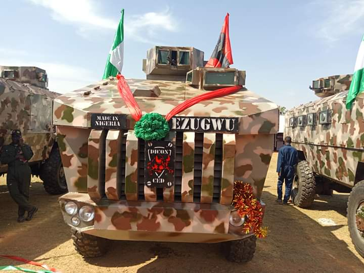 President Buhari Unveils Army Mines Resistant Ambush Protected Vehicles In Kaduna