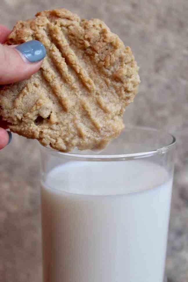 Tahini Cookies and Milk