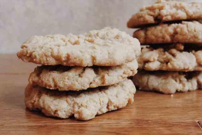 Tahini Cookies Stacked