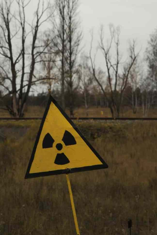 warning sign in chernobyl