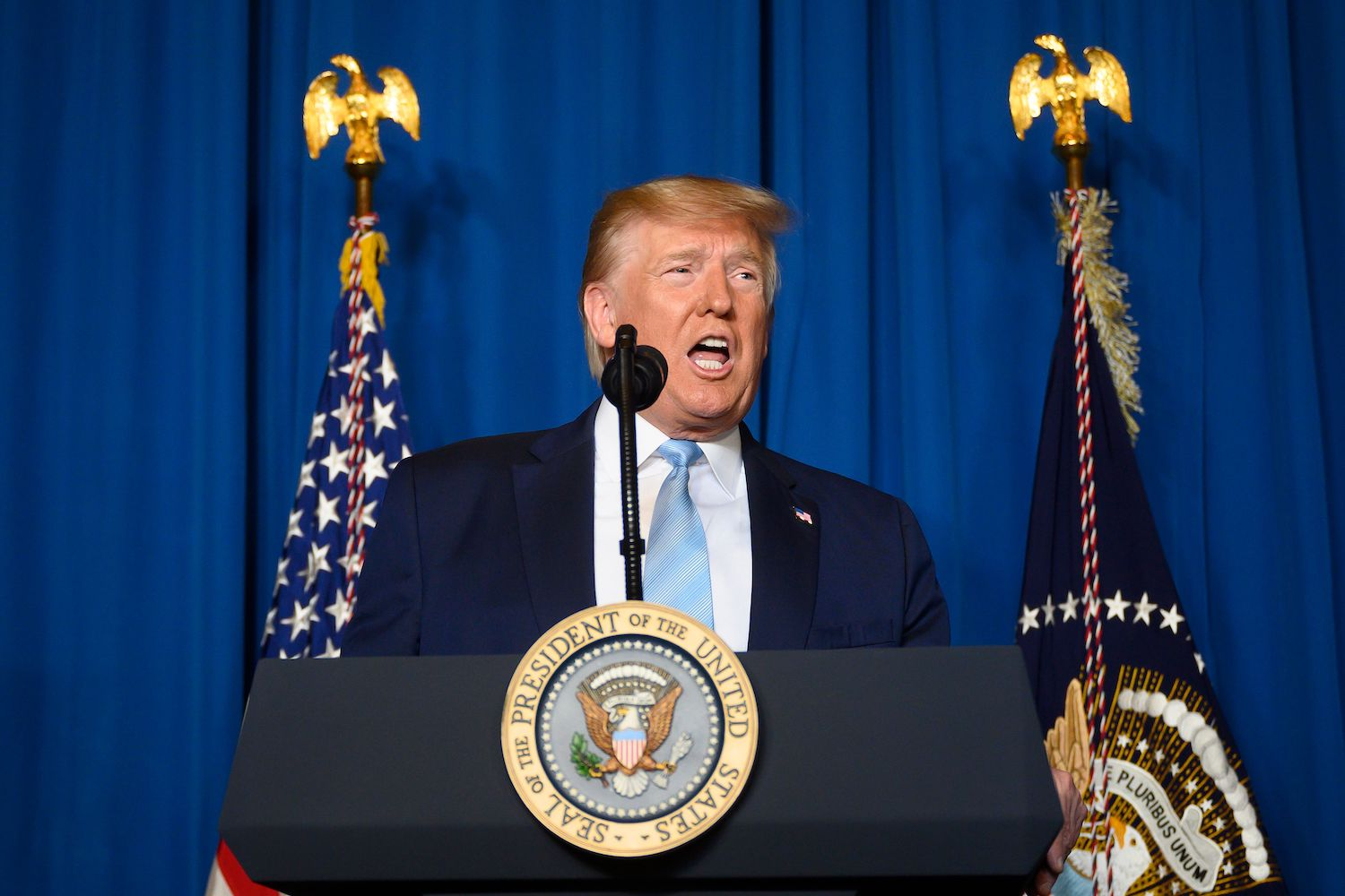 Trump Says U.s. Does Not Have To Use Military Against Iran