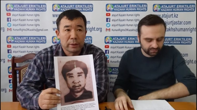 Muhtar Mursaly, an ethnic Kazakh now living in Almaty, testifies for his brother-in-law, Ma Zhengxiu.