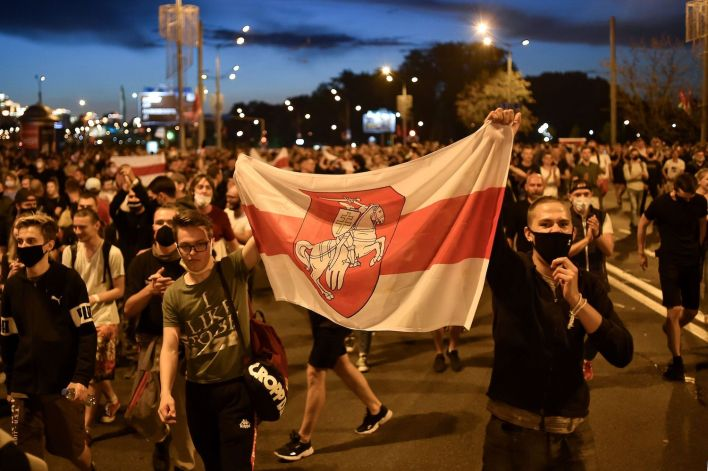 Thousands Protest Election Results in Belarus as Lukashenko Claims ...