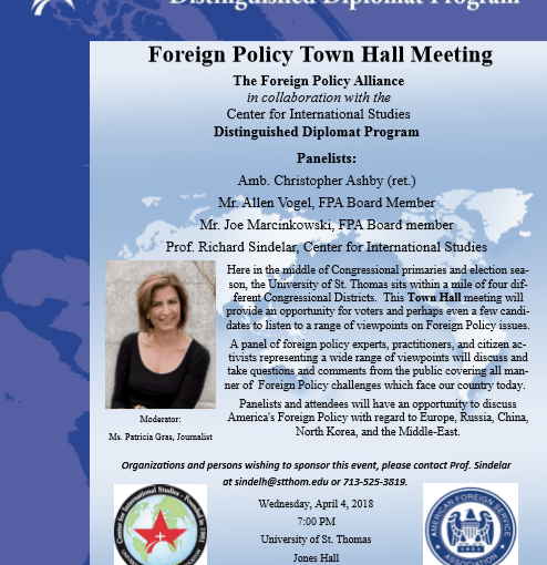 Foreign Policy Town Hall on April 4, 2018