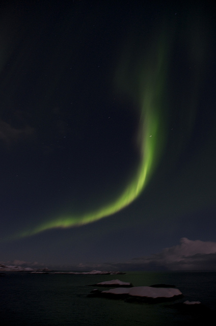 The Northern Lights in A, Lofoten Islands, Norway. (c) Mia Bennett 2013
