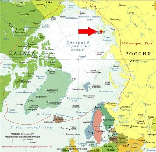 Map of New Siberian Islands. (c) topwar.ru