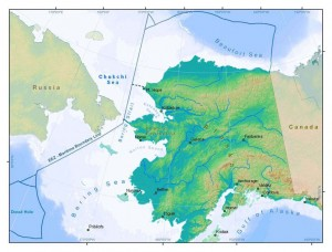 Map of Arctic FMP Area. © NOAA