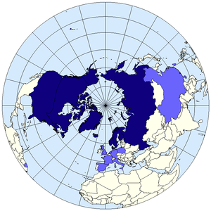 Arctic Council Map. Permanent members in dark blue; observers in light blue.