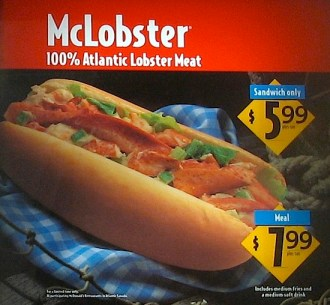 McLobster: Coming soon to Mcdonald's in Murmansk?