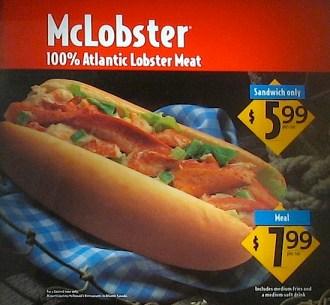McLobster: Coming soon to Mcdonald's in Murmansk?
