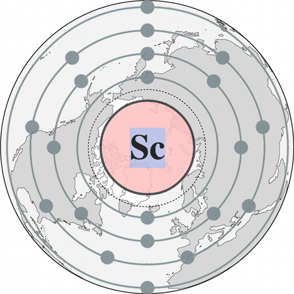 Scandium in the Arctic. © Mia Bennett. Adapted from Wikipedia and World Atlas images.
