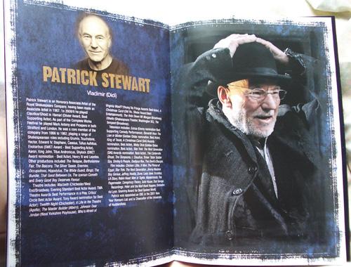 Patrick Stewart on Vladimir eli Didi. (Kuva teatterin julkaisemasta vihkosesta.)
